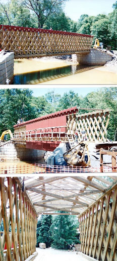 The Thomas Bridge under construction, ca. 1960's.