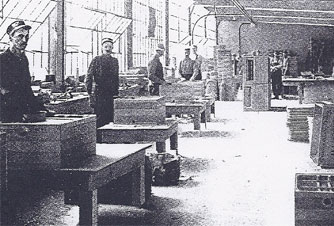 An early shot of the inside of the Prairie State Incubator Company