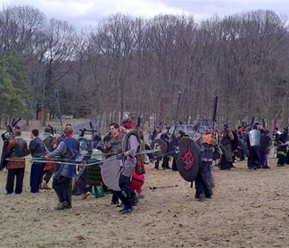 You can even get permits for medieval combat, so long as you folow the rules!